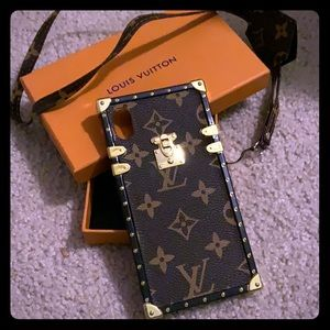 IPhone XR case with lanyard L V